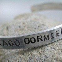 Draco Dormiens Nunquam Titillandus Hand Stamped Harry Potter Bracelet