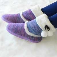 HEATHERED SLIPPER BOOTS