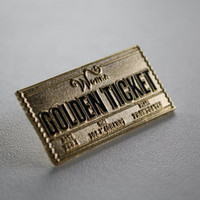 Willy Wonka Golden Ticket Lapel Pin