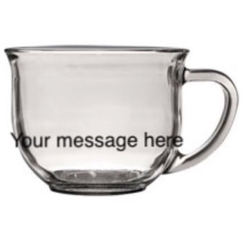 Handmade Clear Mug Anything You Want!