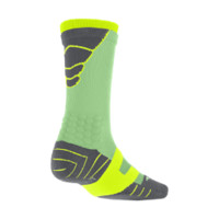 Nike Elite Vapor Crew Football Socks Large - Light Lucid Green
