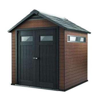 Keter Fusion 7.5 ft. x 7 ft. Wood and Plastic Composite Shed-219882 - The Home Depot