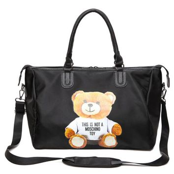 Sports gym bag Hot Sale Designer Cute Cartoon Print Bear Gym Fitness  Shoulder Crossbody Bag Women Tote Handbag Travel Duffle Bolsa KO_5_1