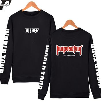 LUCKYFRIDAYF Justin Bieber Purpose Tour Hoodies Sweatshirts Men 4XL For Winter Autumn in Kanye West Mens Hoodies and Sweatshirts