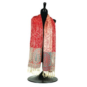 Red/blue Pashmina Scarf