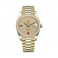 Rolex Day-Date 40 228348RBR Gold & Diamonds Watch (Paved with Diamonds and Rubies) | World's Best