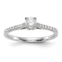 14K White Gold Complete Diamond Promise / Engagement Ring