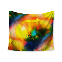 """No """"Good Vibrations"""" Abstract Multicolor Wall Tapestry"""