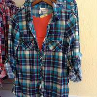 Country Backwoods Flannel - Teal