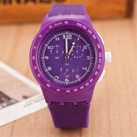 Unisex Minimalist Jelly Band Strap Watch Best Gift watches-439