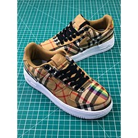 Burberry X Nike Air Force 1 Low Af1 Camo Sport Shoes - Sale