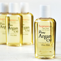 PURE Moroccan ARGAN Oil. 100% Natural Luxurious Hydration for Hair, Face, Skin & Nails. Unscented. 2 fl.oz (59 ml)