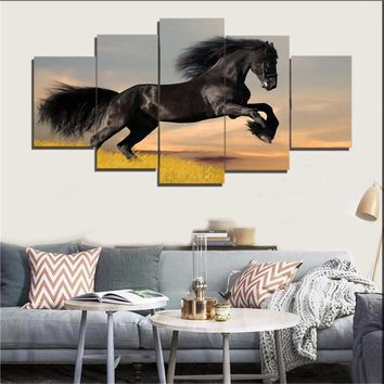 Frameless Vintage Painting Horse DIY Painting By Numbers Kits Acrylic Paint On Canvas Home Wall Art Picture Artwork MA14