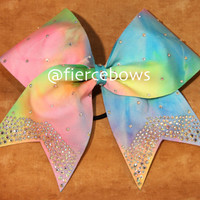 Easter Princess Rhinestone Cheer Bow