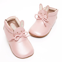 Livie & Luca Light Pink Shimmer Classic Baby Bunny Shoe