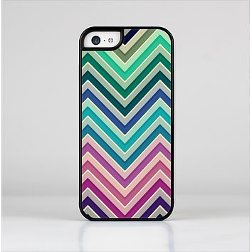 The Vibrant Colored Chevron Layered V4 Skin-Sert Case for the Apple iPhone 5c
