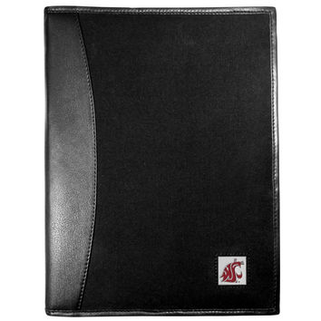 Washington St. Cougars Leather and Canvas Padfolio CPAD71