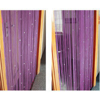 Newest Romantic Beads Design Beaded Crystal Curtain String Door Window Curtain Divider partition Tassel Decoration 100x200cm