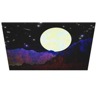 Valley of the Moon wrapped canvas print from GalacticVisions* on Zazzle