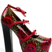 Mary Jane Heel - Rose And Leopard