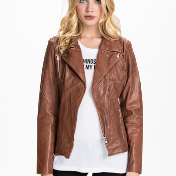 Foma Leather Jacket, Selected Femme