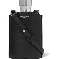 Saint Laurent - Leather and Silver-Tone Flask | MR PORTER