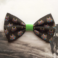 The Legend of Zelda Majoras Mask Inspired Hair Bow or Bow Tie