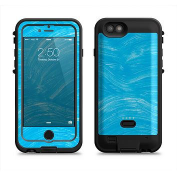 The Blue Painted Brush Texture Apple iPhone 6/6s LifeProof Fre POWER Case Skin Set