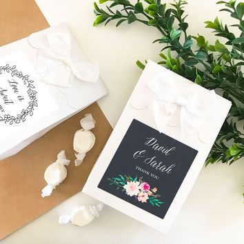 Personalized Floral Garden Sweet Shoppe Candy Boxes (Set of 24)