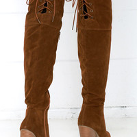 Mountain Crest Tan Suede Over the Knee Boots