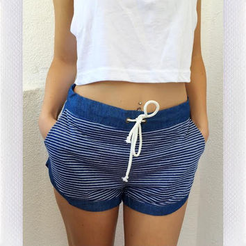 SAIL WITH ME SHORTS- BLUE from shopoceansoul