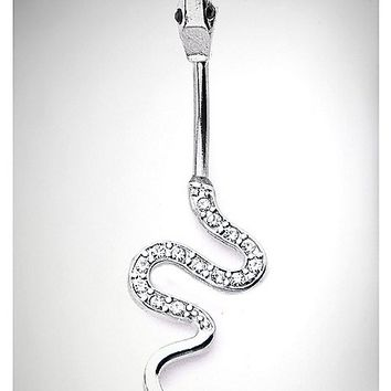 14 Gauge Snake Dangle Belly Ring - Spencer's
