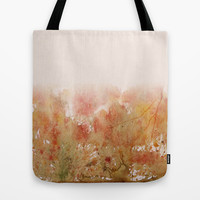 abstract in autumn colours Tote Bag by rysunki-malunki