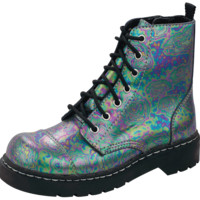 Oil Slick Anarchic Boot from T.U.K.