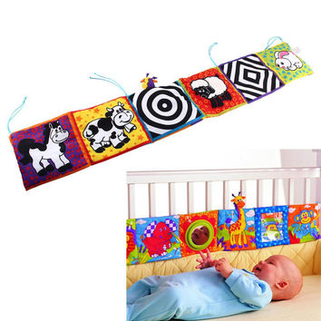 Baby Toys Baby Bed Around Baby Cloth Book Baby Rattles Knowledge Around Multi-Touch Colorful Bed Bumper for Kids toys