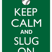 KEEP CALM and SLUG On Baseball Tin Aluminum Parking sign home decor wall hanging