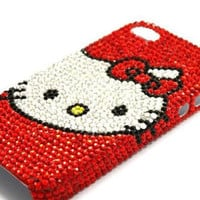 Kawaii hello kitty iphone case Decoden stickers and rhinestions DIY set kits (The Case is not Included)