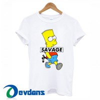 Savage Simpsons T Shirt Women And Men Size S To 3XL