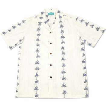 cabana white hawaiian cotton shirt