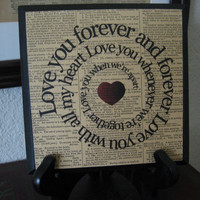 Beatles Song Lyric Art Block - I Will - Love Song - Spiral - Typography - Wood Plaque -Valentine