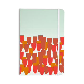 "Pellerina Design ""Sunrise Poppies"" Red Aqua Everything Notebook"