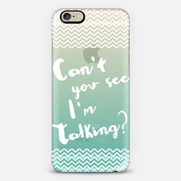 I'm Talking Ombre Turquoise iPhone 6 case by Emilee Parry | Casetify