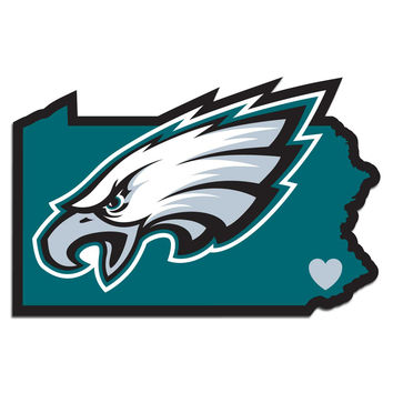"Philadelphia Eagles ""State Pride"" Vinyl Decal"