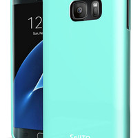Cellto Slim Form Fitting Silicone TPU Skin Case Cover for Samsung Galaxy S7 Edge [Curved] (2016)