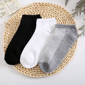 10 Pieces/ Lot Plus Size Black White Colors Men's Sock Quality Casual Summer Breathable Fitted Mesh Socks For Men Free Shipping