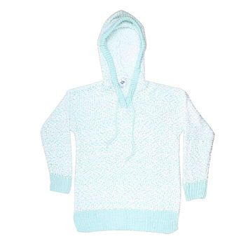 The Stockholm Popcorn Sweater in Mint by Nordic Fleece