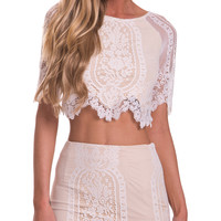 Glamorous Top in White - Popcherry