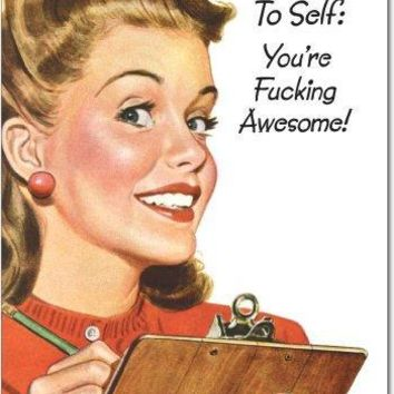You Are Fking Awesome Inappropriate Birthday Card with Envelope - Greeting Cards - Free Shipping