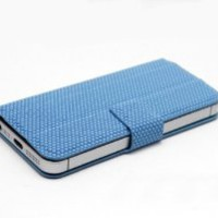 Guoer Magnetic Adsorption Multifunction Smart Stand Case for Apple Iphone 5-blue