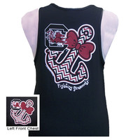 New South Carolina Gamecocks Anchor Bow Girlie Bright Tank Top
